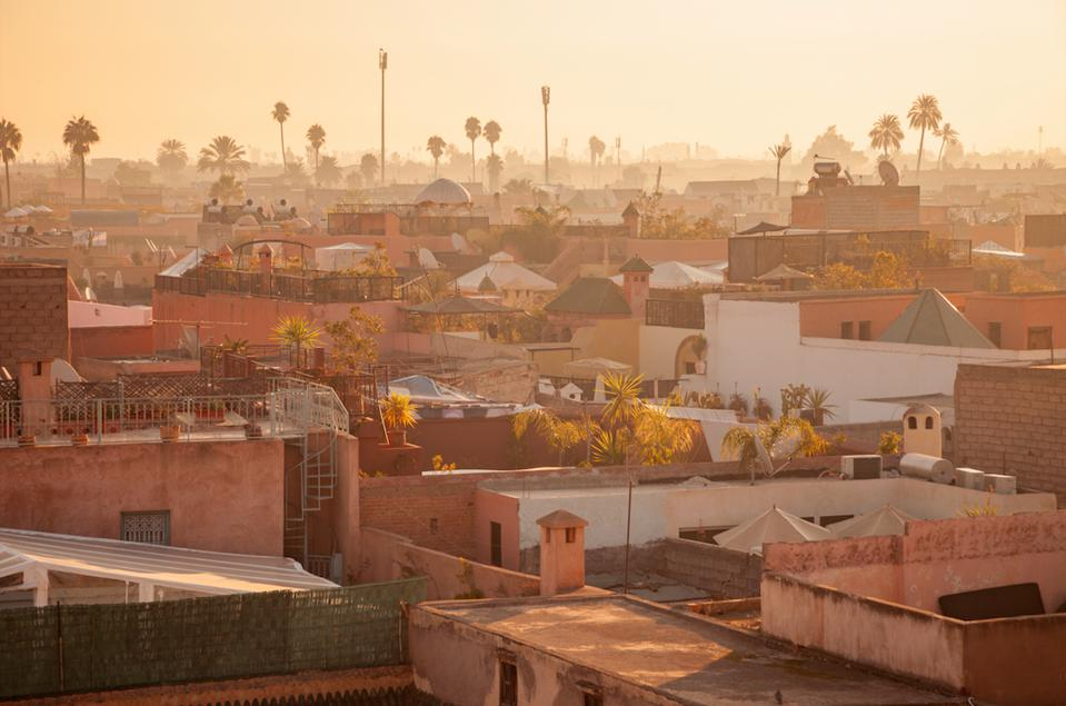 A view over Marrakech, home to the upcoming Nobu hotel and restaurant.