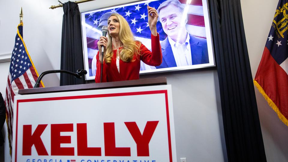 Georgia GOP Senate Candidates David Perdue And Kelly Loeffler Hold Campaign Rally