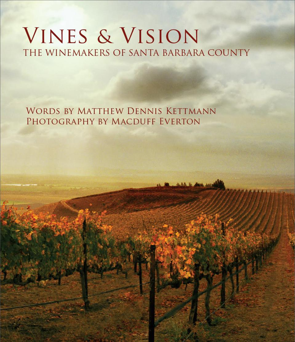 Photo of vineyard with words Vines and Vision
