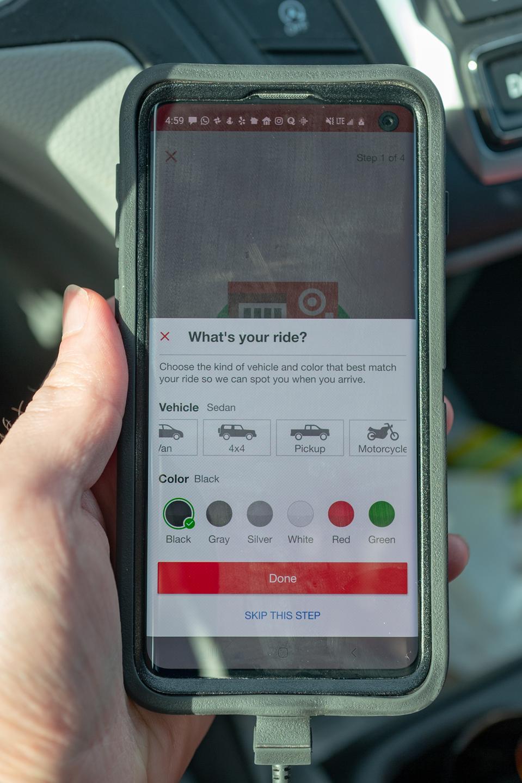 Target Curbside Pickup App