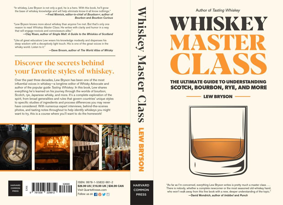 Image of whiskey glass on book jacket with title Whiskey Master Class