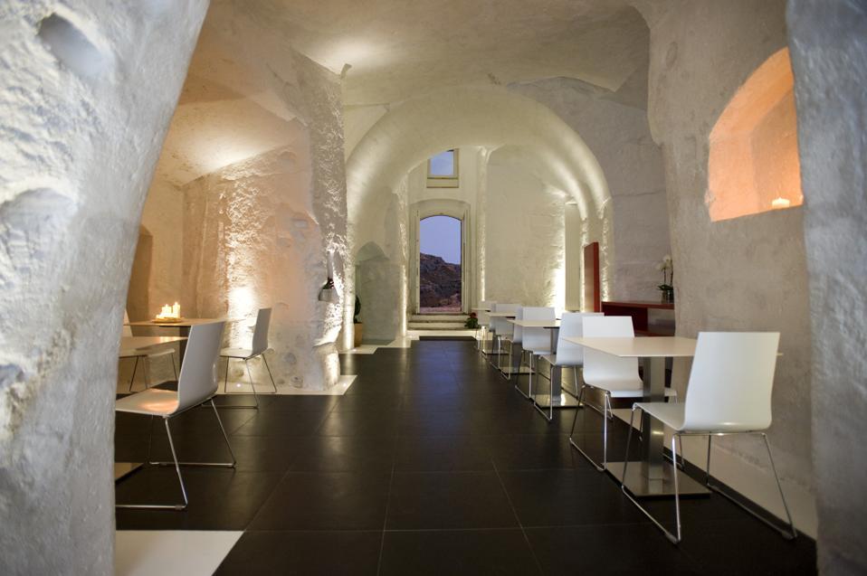 Cave restaurant at Hotel Basiliani