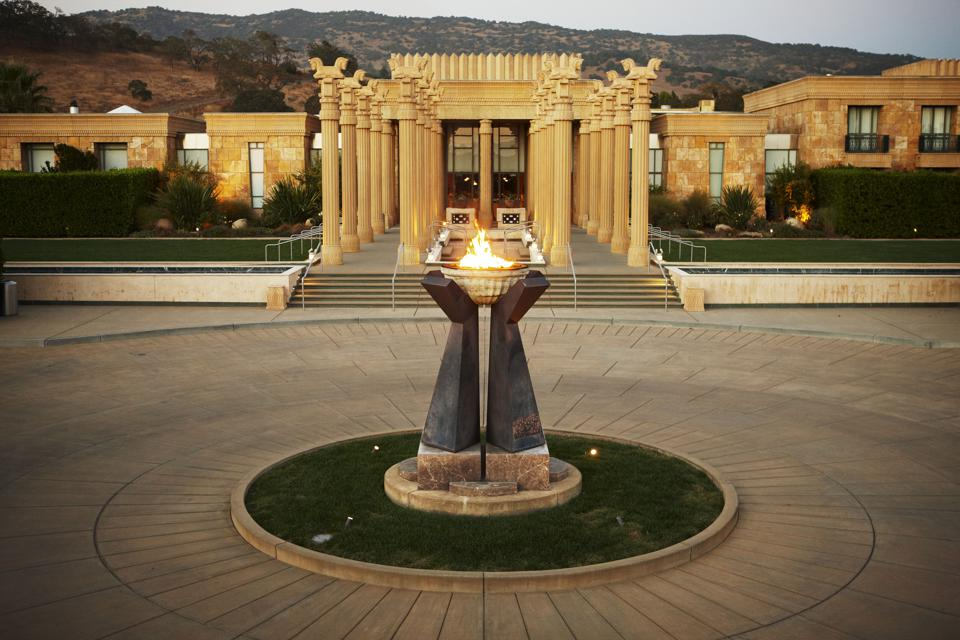 The grounds are spectacularly built, emulating the spirit of ancient Persepolis.