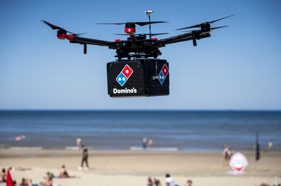 NETHERLANDS-TECHNOLOGY-DRONE-FOOD-DELIVERY