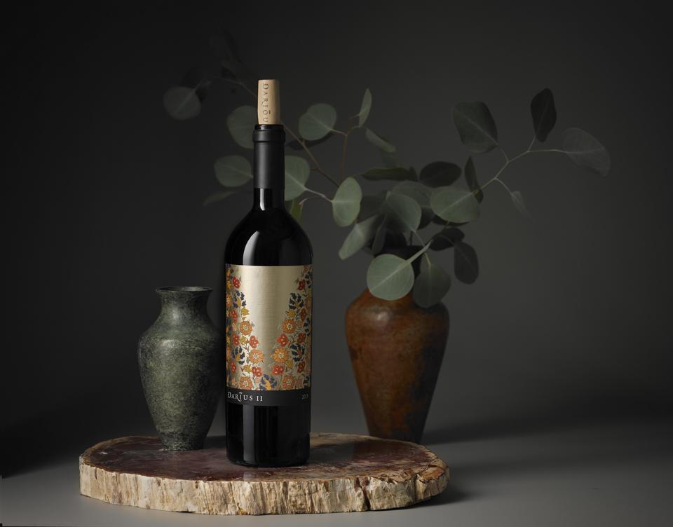 The winery's best, Darius II is made with collaboration from London's Victoria and Albert Museum, featuring ancient artwork on every bottle. Due to the wildfires, 2017 was the first year since its inception it wasn't bottled.