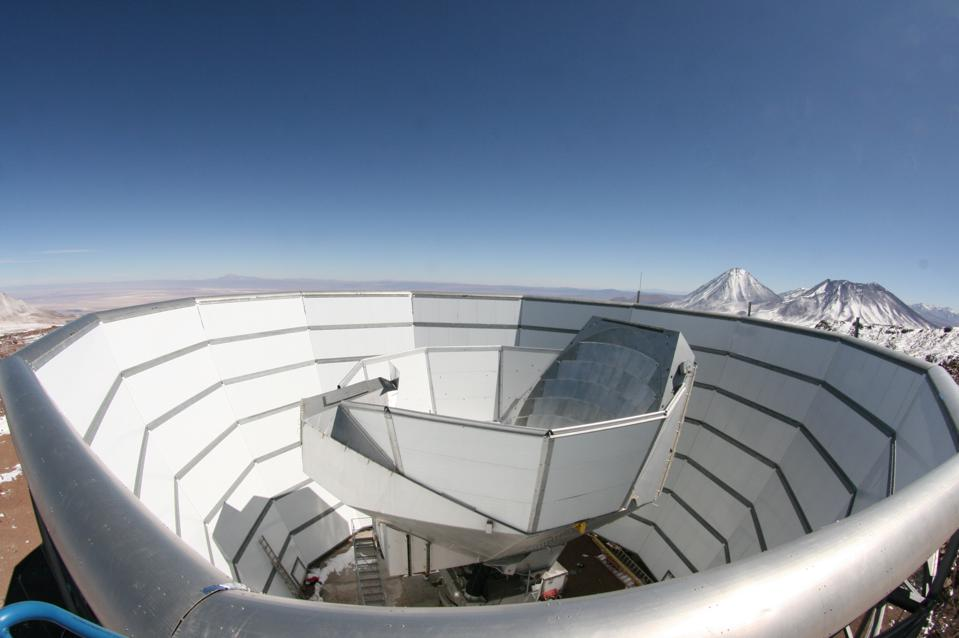 The National Science Foundation's Atacama Cosmology Telescope (ACT), a six-meter diameter telescope on Cerro Toco in the Atacama Desert of northern Chile.