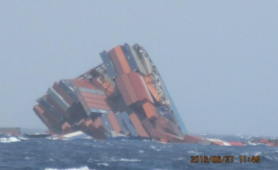 The MOL comfort sinking was the most expensive in container disaster in history in 2013 in the Indian Ocean