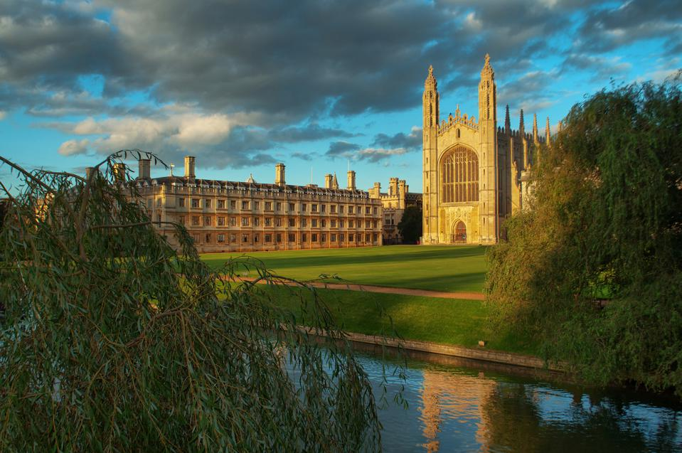 Clouds over Kings College, Cambridge, England, UK