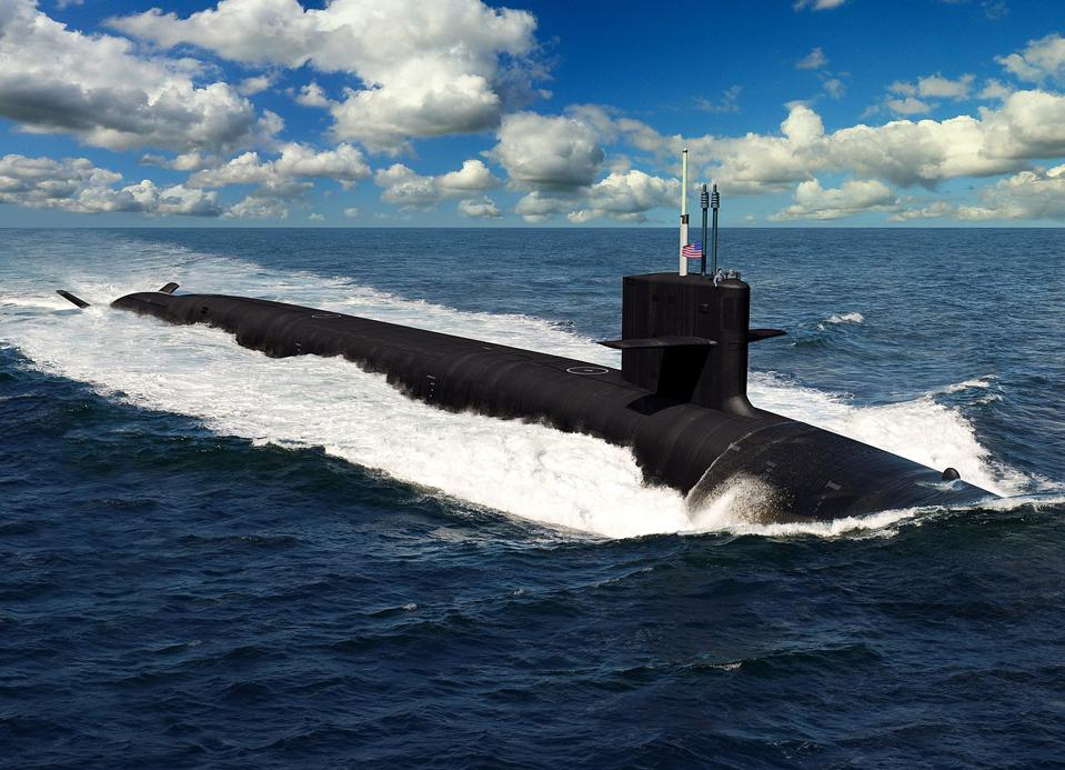 An artist's conception of the Columbia-class ballistic missile sub.