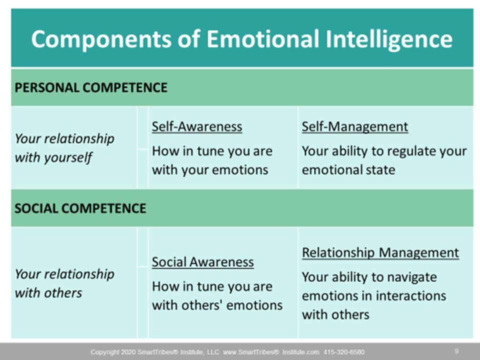 Components of Emotional Intelligence SmartTribes Institute