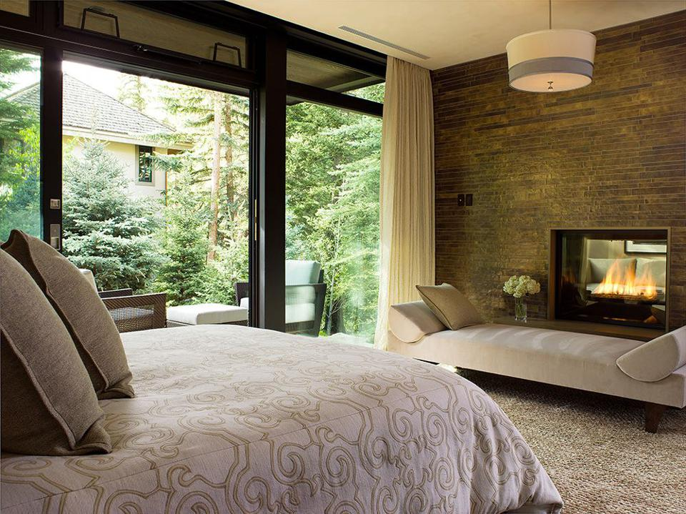 A bedroom in Vail, Colo.