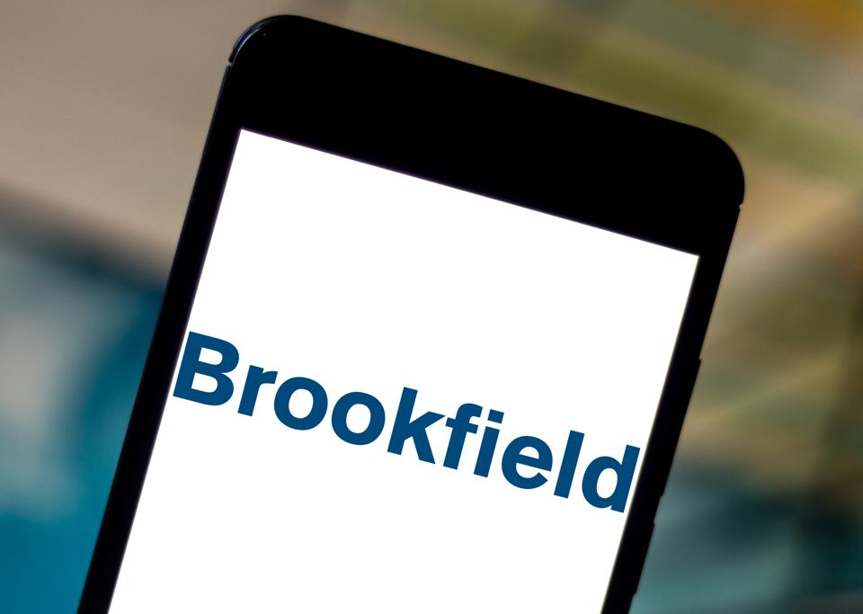 In this photo illustration the Brookfield Asset Management...