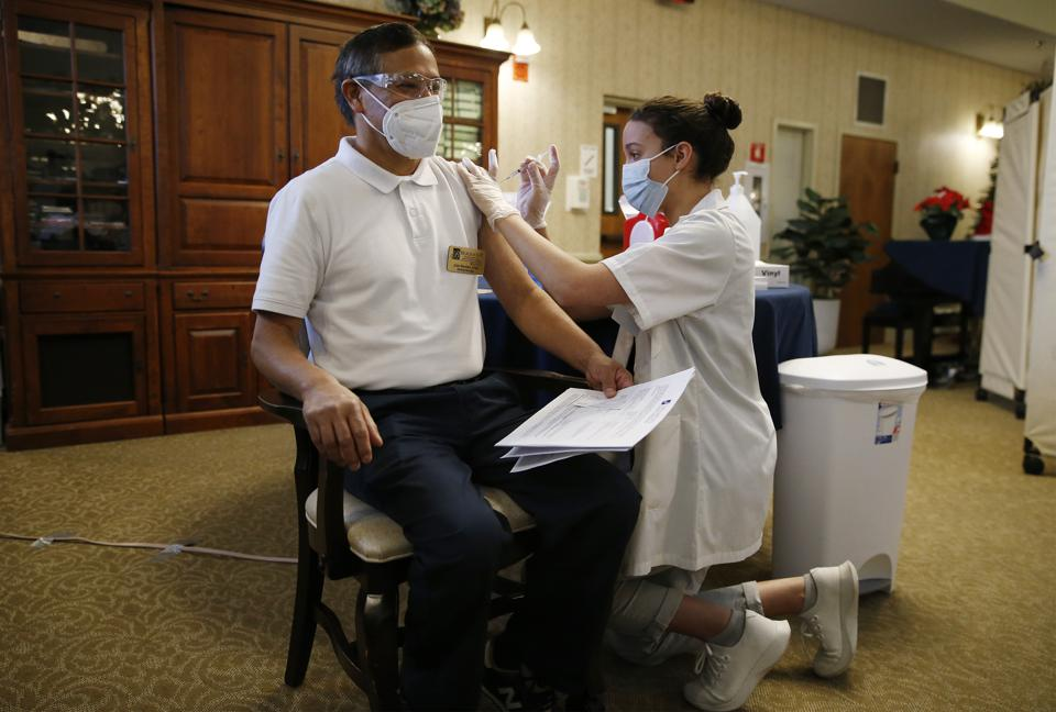 Nursing Home Staff and Residents Recieve Covid-19 Vaccine
