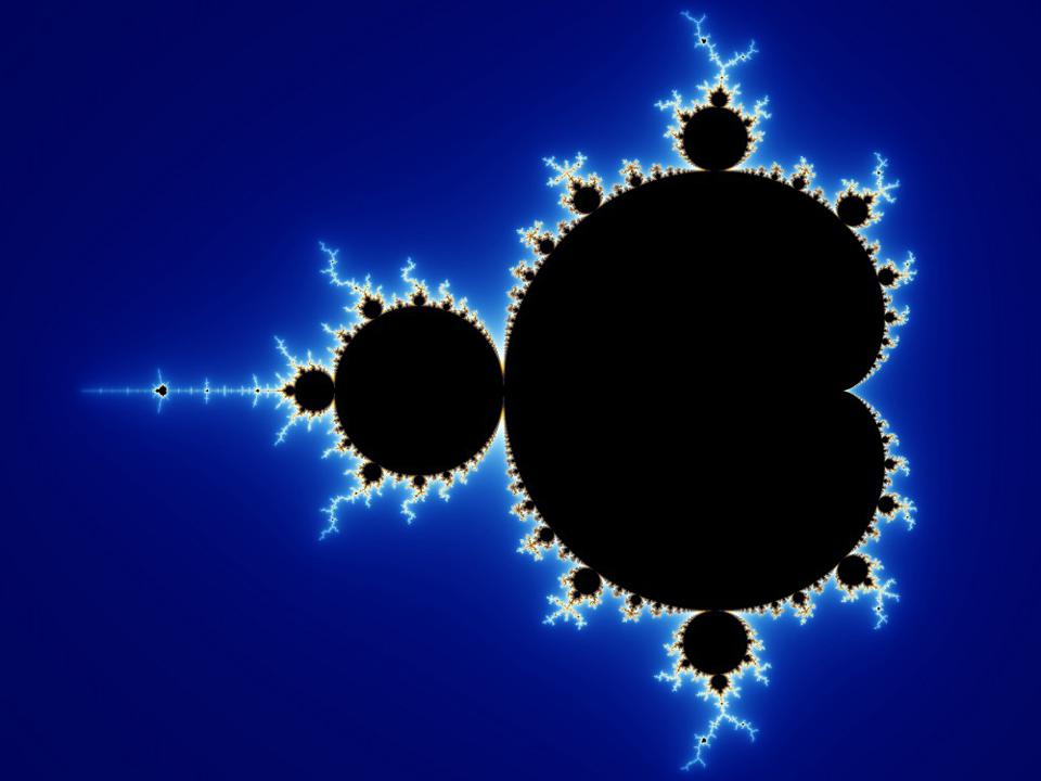 The Mandelbrot set is an example of a mathematical structure with self-similar components.