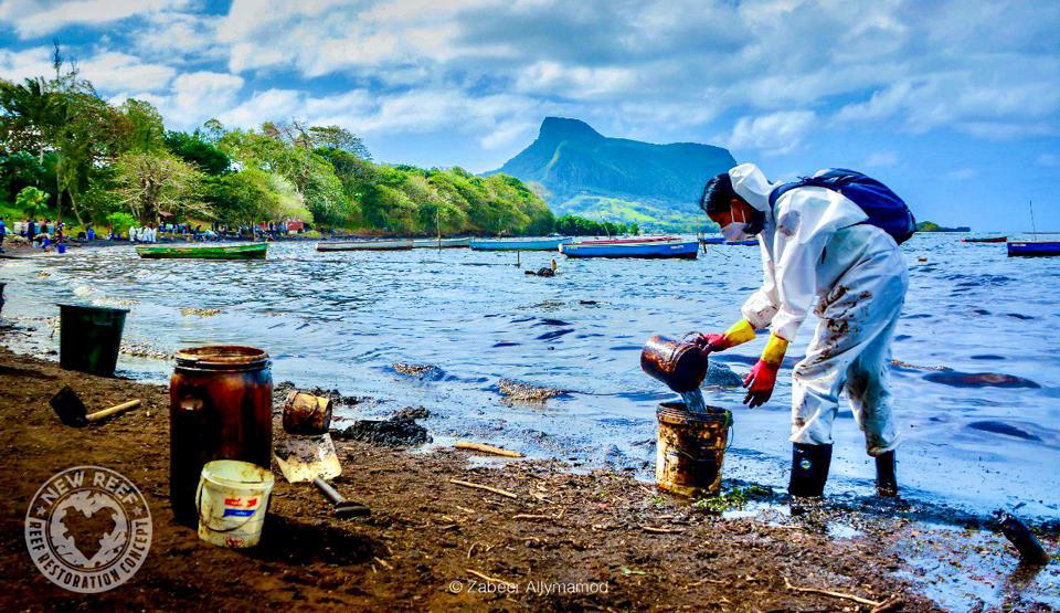 Woods Hole had to rely on oil samples that had been in the ocean for 10 days at Riviere des Creoles in South East Mauritius (seen here) rather than almost 1 million gallons that had been taken from the vessel