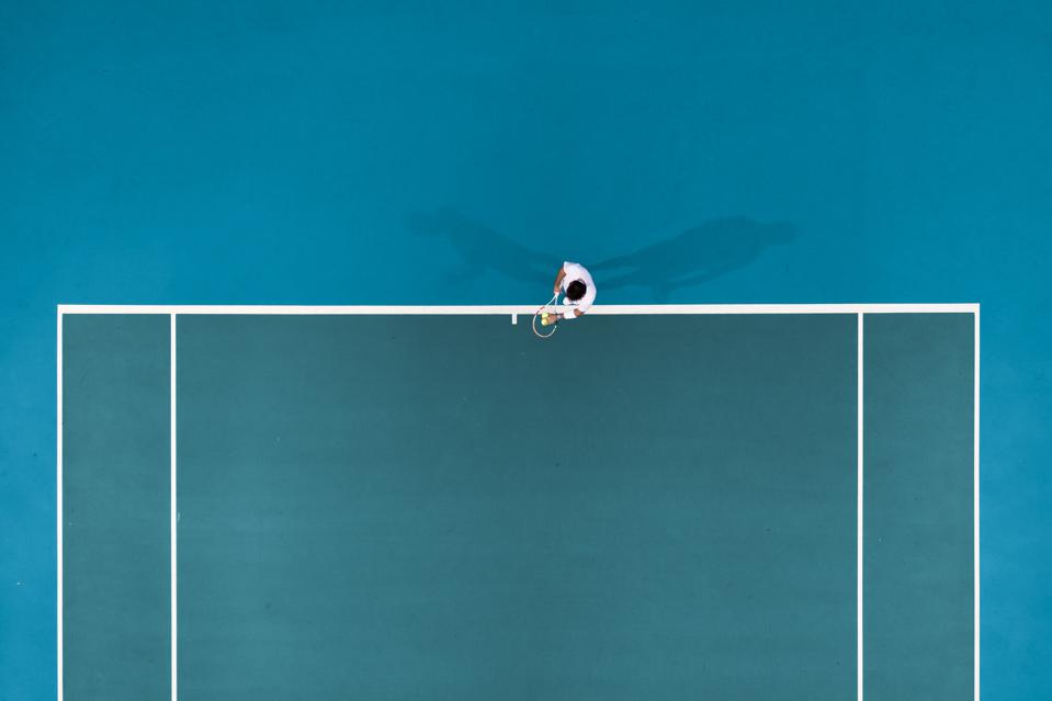 tennis player from above