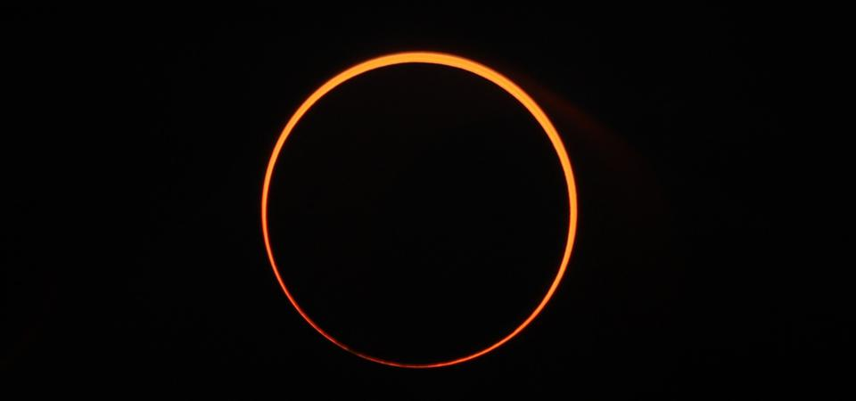 An annular ″ring of fire″ solar eclipse in Aceh, Indonesia on December 26, 2019.