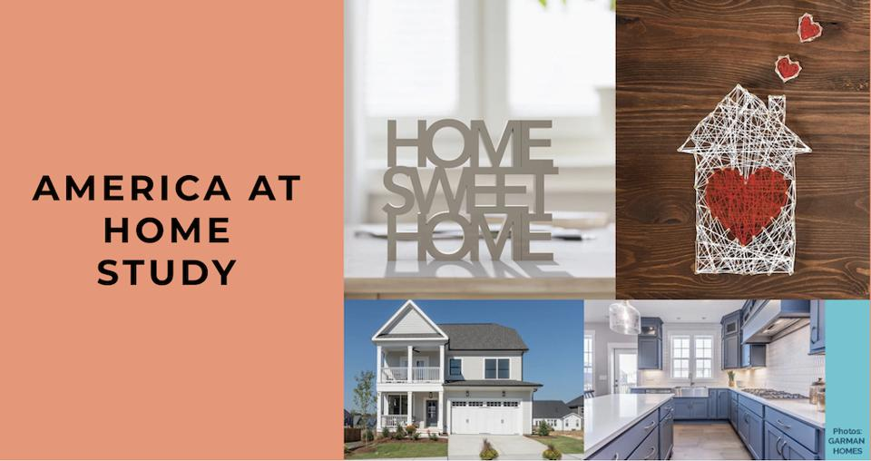 Five images show a range of ideas about what home means, to accompany a research project called the ″America At Home Study.″