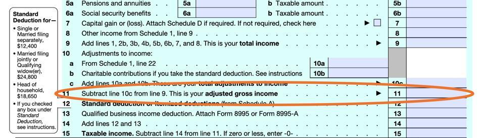 Form 1040 AGI