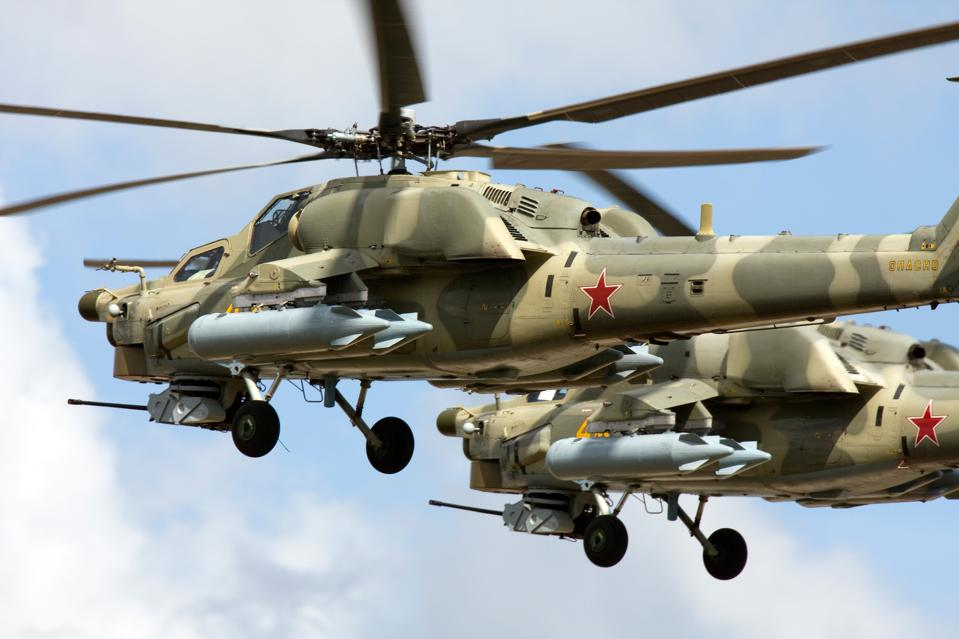 Two Mil Mi-28 all-weather