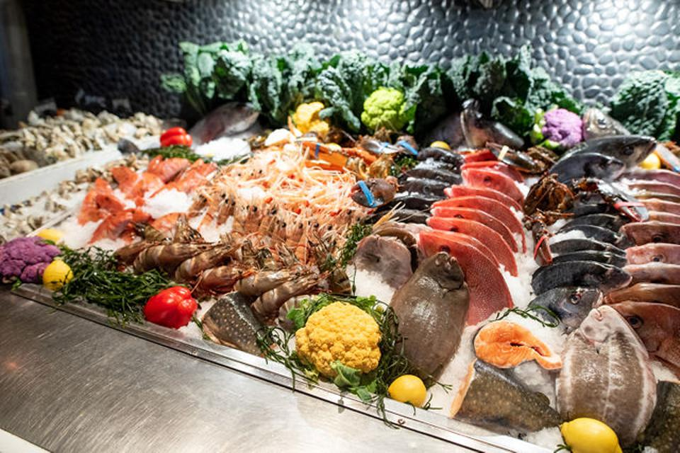 Varka stands out because you get to choose exactly what you want from their freezer full of fresh catch.