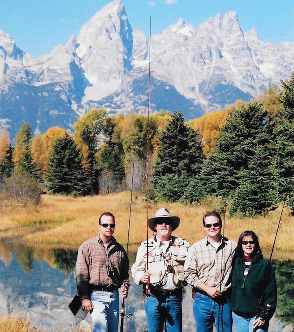 Todd Hayes and his family in Jackson, Wyoming