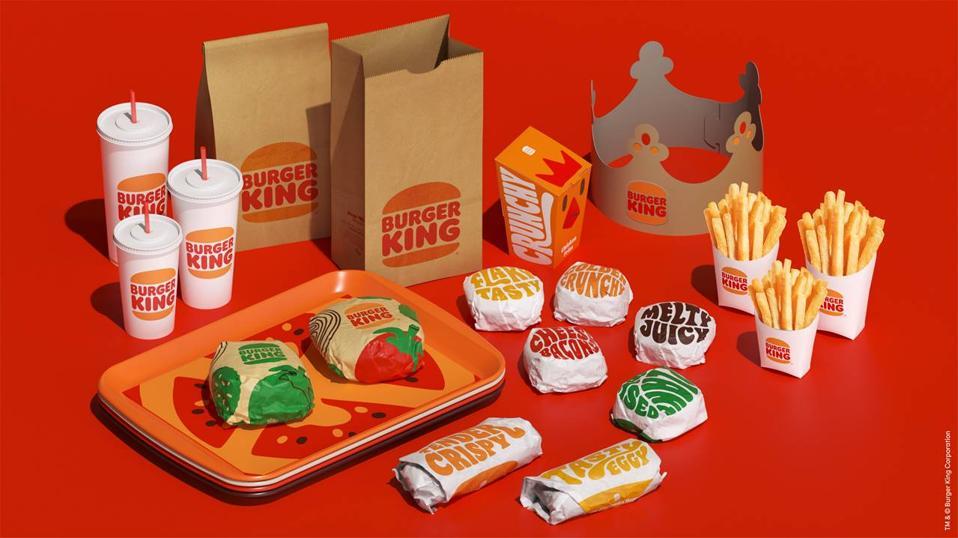 Burger King's updated branding.