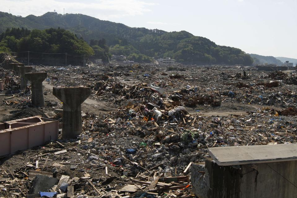 Ootsuchi town that was devastated by the earthquake and tsunami.