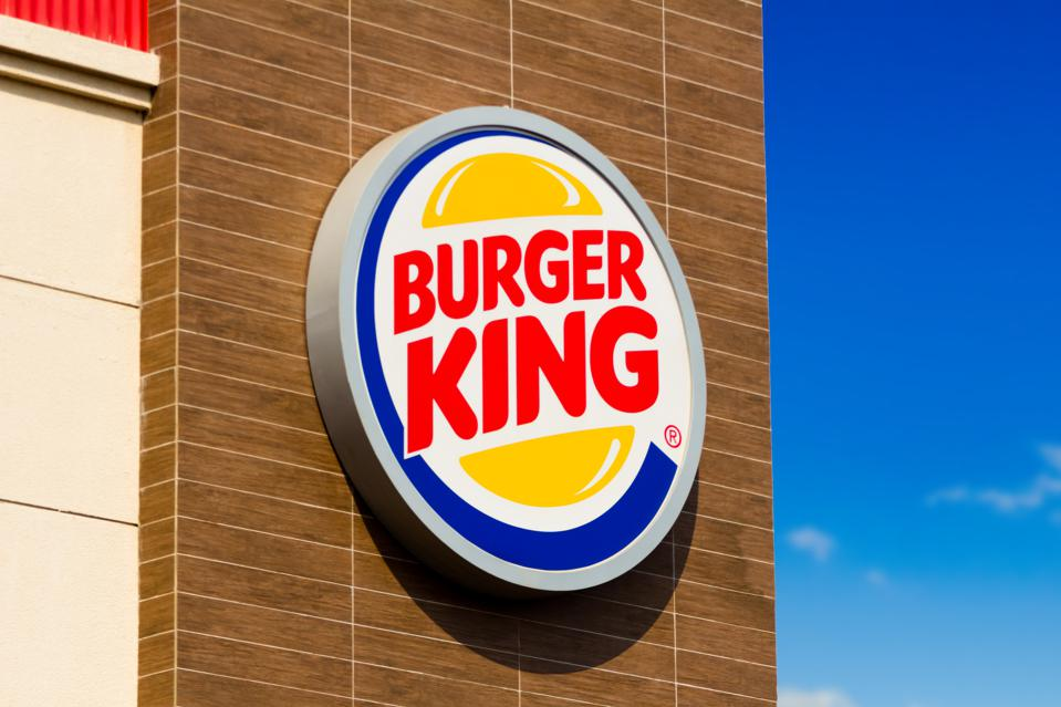 The logo of Burger King at one of its stores in Dourados,...