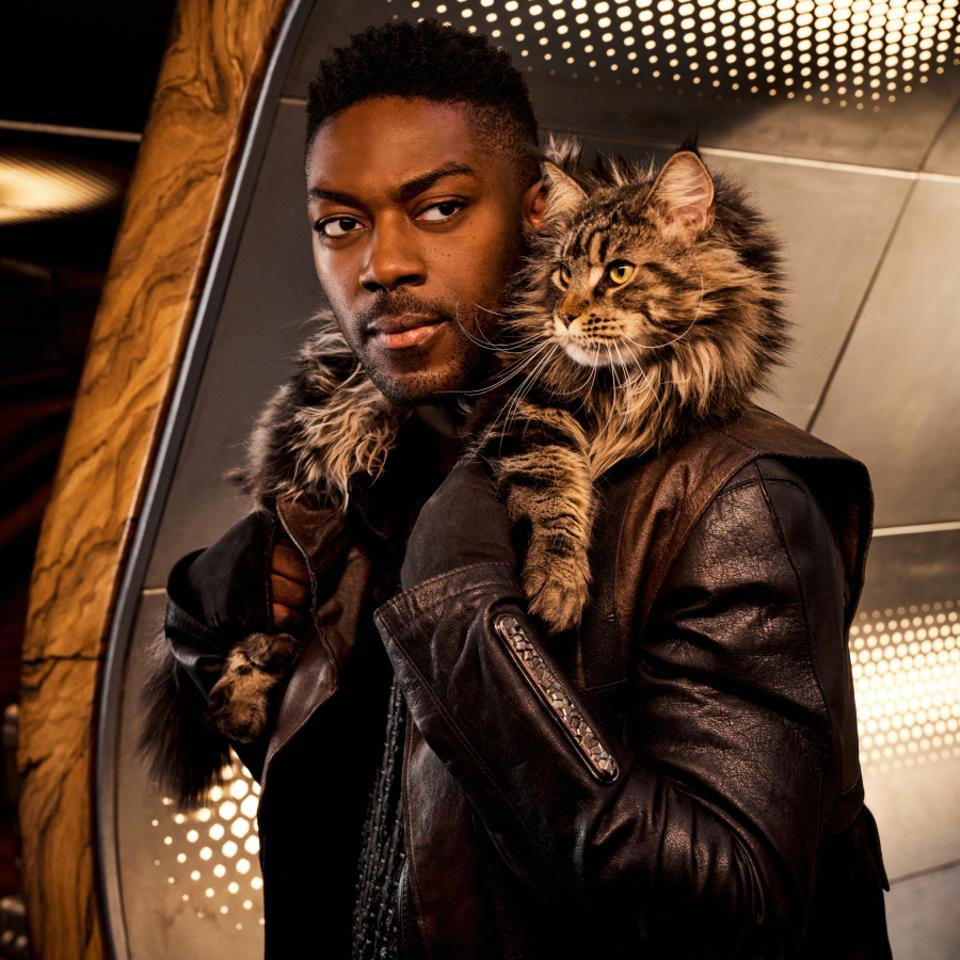 Actor David Ajala plays Book who is devoted to Grudge The Cat