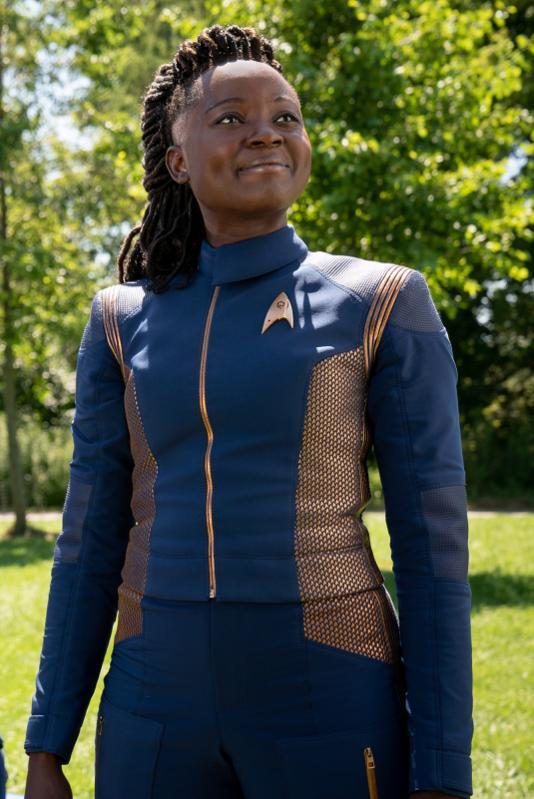 Oyin Oladejo as Lt. Joann Owosekun of the CBS All Access series STAR TREK: DISCOVERY.