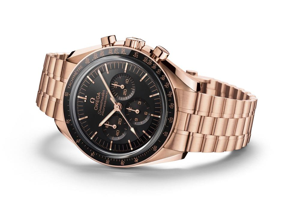 The Omega Speedmaster Professional Moonwatch in 18k Sedna gold