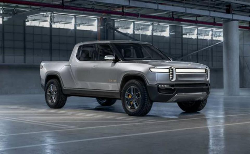 Rivian all electric pickup truck