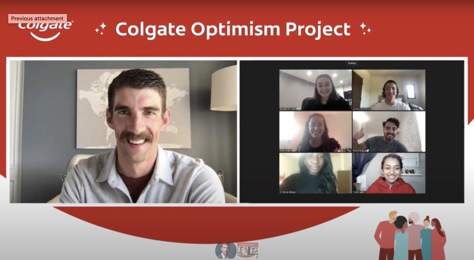 Michael Phelps spreading optimism