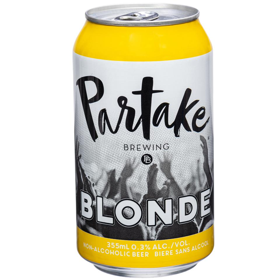 Partake Brewing alcohol-free blonde beer