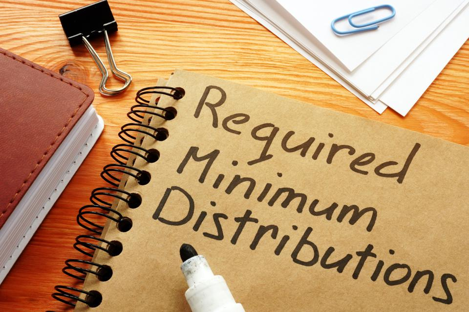 Required minimum distributions RMD phrase on the page.