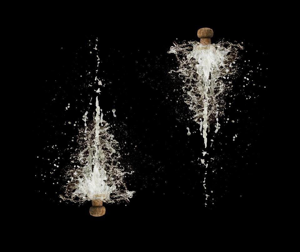 Champagne cork explosions
