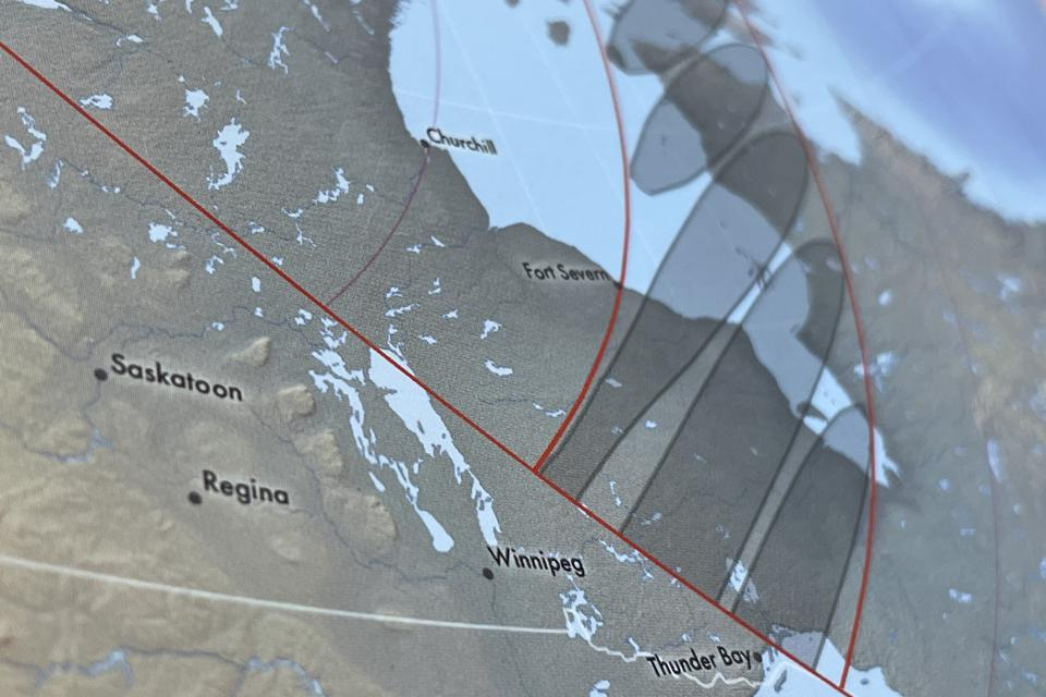 The ″path of annularity″ on June 10, 2021 in Canada, from the ″Atlas of Solar Eclipses: 2020 to 2045.″