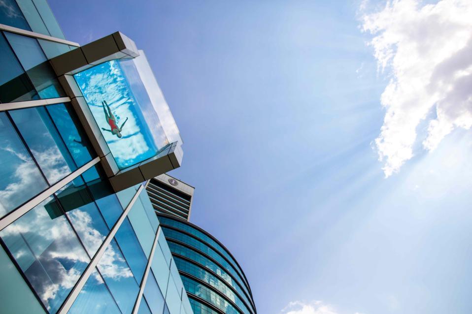 Intercontinental Dubai Festival City Glass Infinity pool