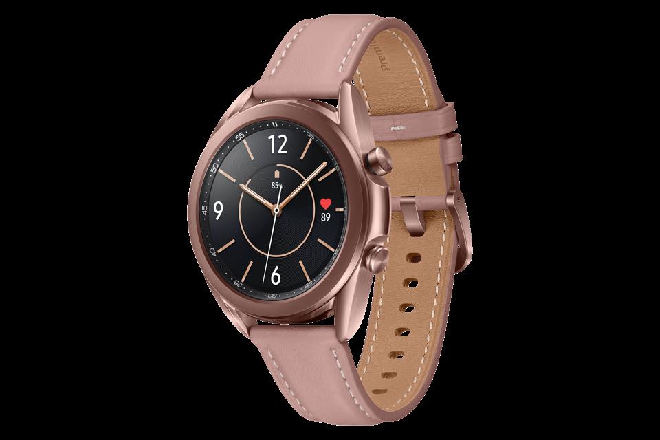 Samsung Galaxy Watch3 in Mystic Bronze.