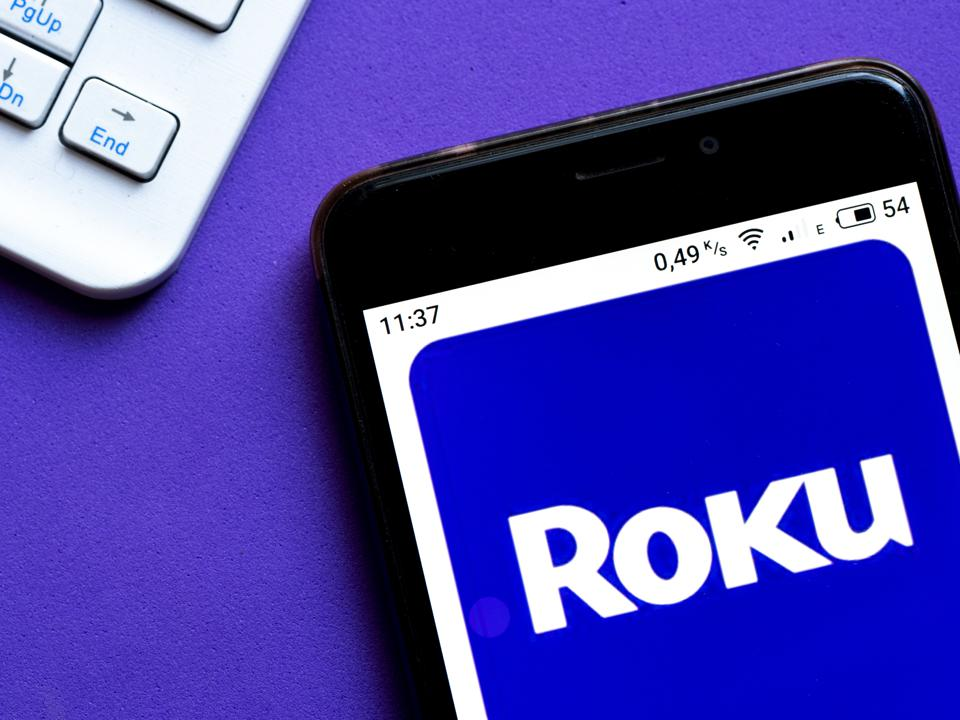 In this photo illustration a Roku digital media player App...
