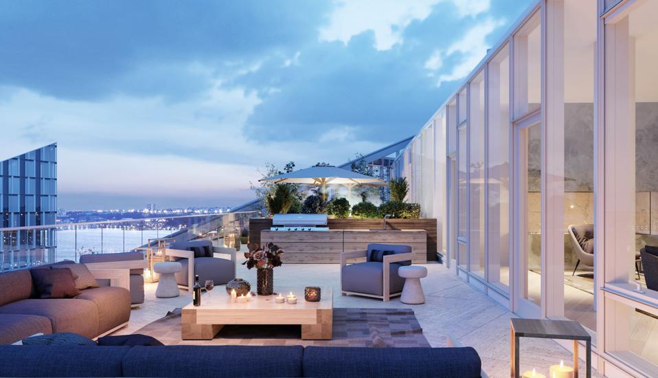 2 Waterline Square Penthouse Terrace.