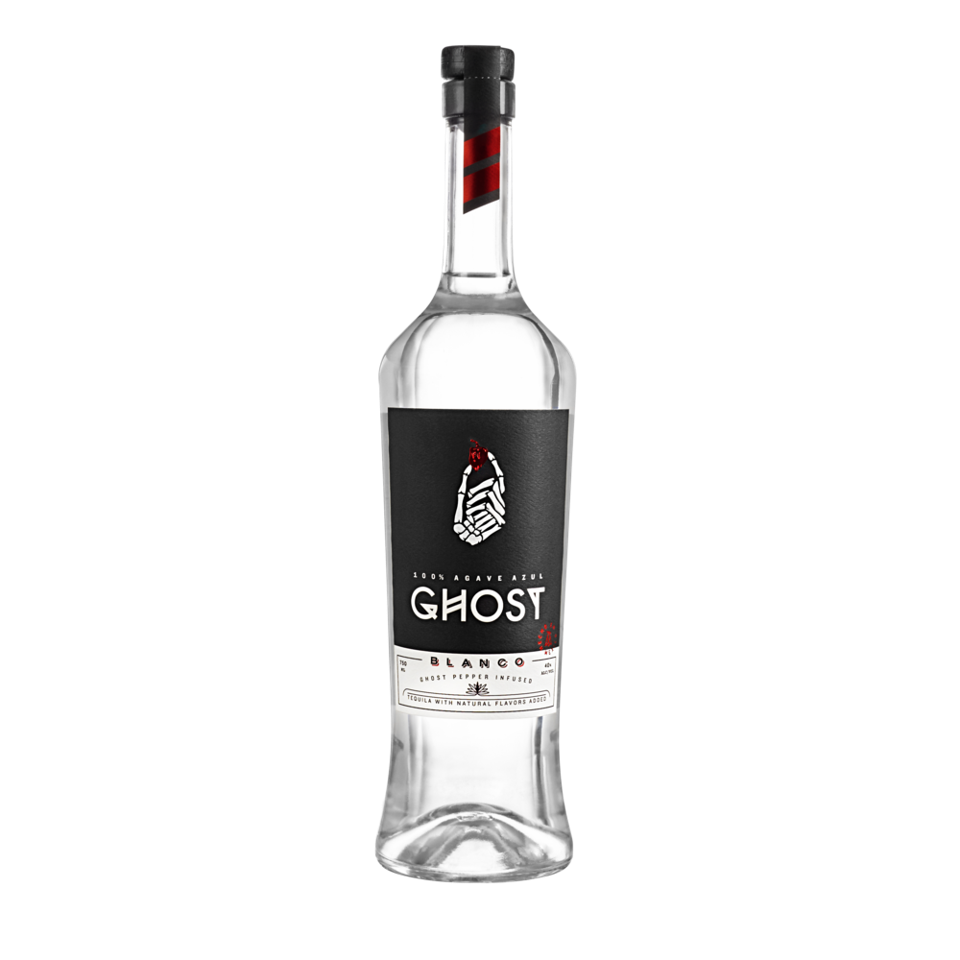 A bottle of Ghost Tequila