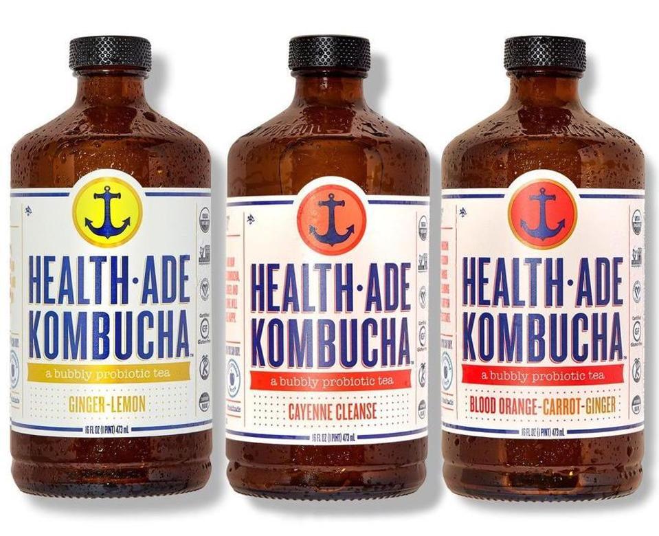 Health-Ade kombucha ginger lemon immunity probiotic tea healthy