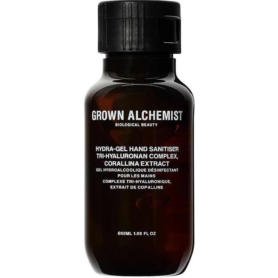 Brown Grown Alchemist hand sanitizer tube bottle.