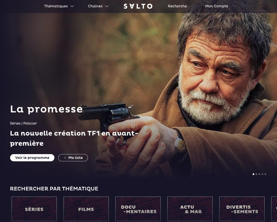 Among Salto's promotions, the new French streaming service will make some series and movies available to subscribers before they are broadcast by its television partners.