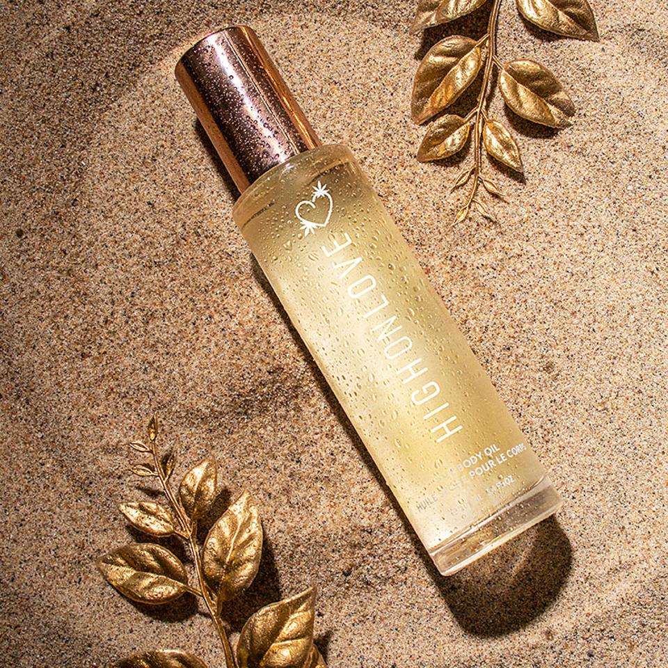 The newly launched Dry Body Oil from HIGH ON LOVE