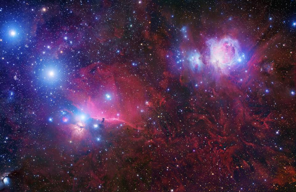 A portion of the Orion Complex as imaged by Rob Gendler.