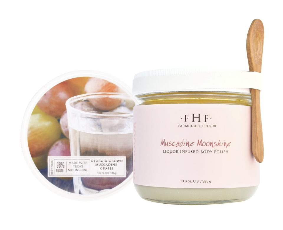 Farmhouse Fresh's Muscadine Moonshine Liquor Infused Body Polish