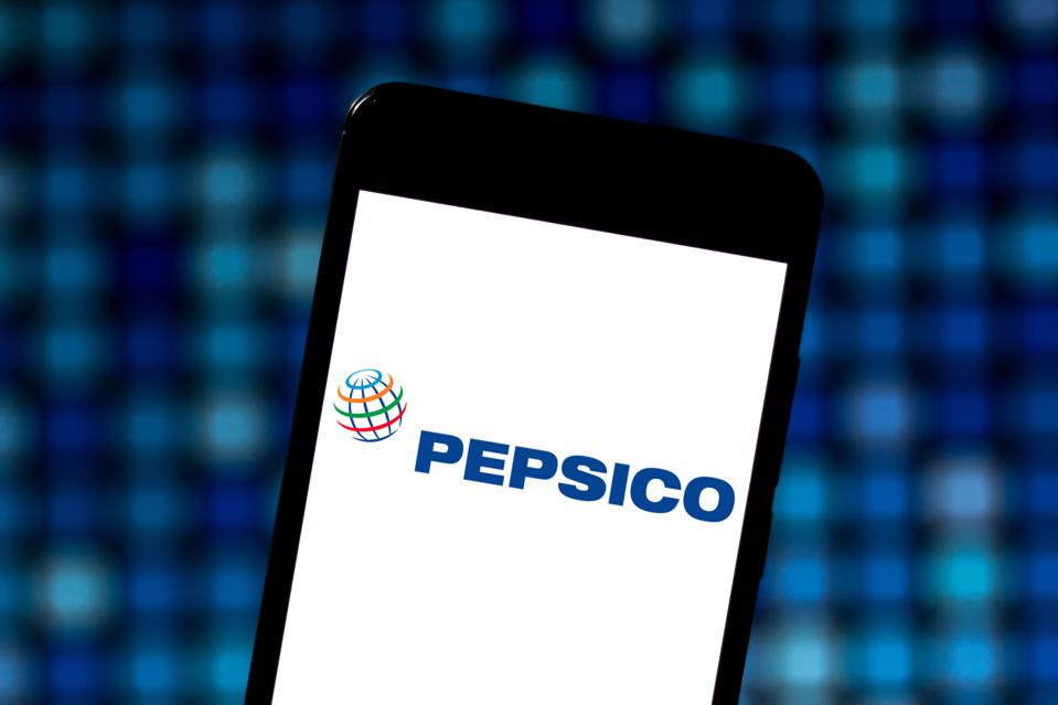 In this photo illustration the PepsiCo logo is seen...